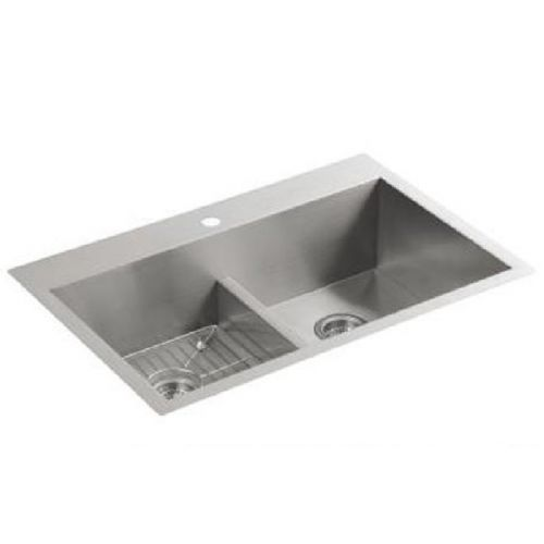 Kohler Vault 3838-1-NA Stainless Steel Smart Divide Double Equal Bowl Kitchen Sink